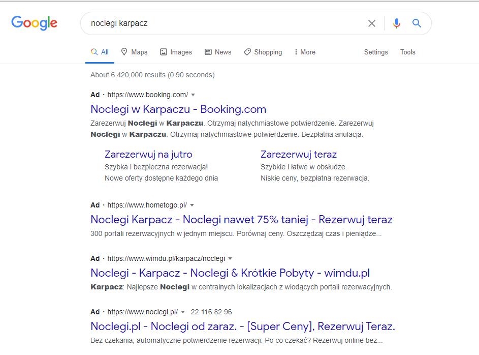 Rodzaje kampanii Google Ads - Reklamy tekstowe